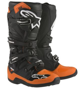 Bottes ALPINESTARS 2015 TECH 7 - Orange Noir Blanc