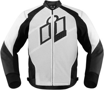 Blouson Cuir ICON 2015 Hypersport Blanc
