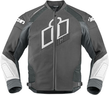 Blouson Cuir ICON 2015 Hypersport Prime Gris