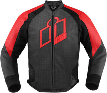 Blouson Cuir ICON 2015 Hypersport Rouge XL