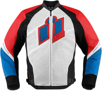 Blouson Cuir ICON 2015 Hypersport Bleu Blanc Rouge