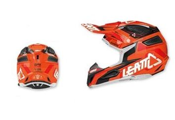 Casque LEATT BRACE 2015 GPX 5.5 Composite Orange Noir
