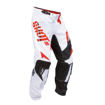 Pantalon cross SHOT 2016 Flexor System BLANC/ROUGE 28