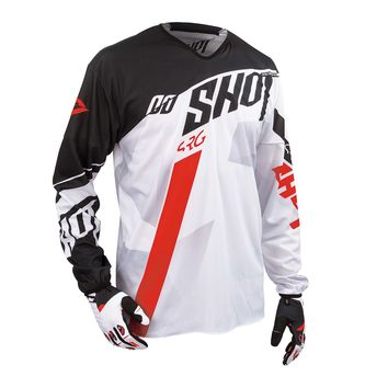 Maillot cross SHOT 2016 Flexor System BLANC/ROUGE
