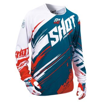 Maillot cross SHOT 2016 Contact Genesis TURQUOISE/ROUGE