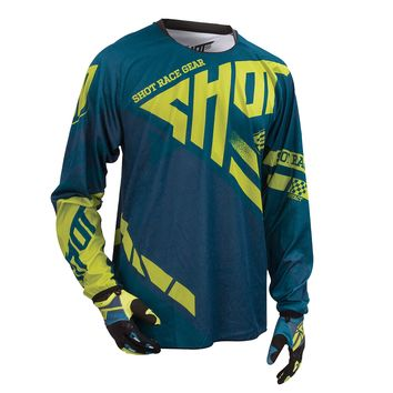 Maillot cross SHOT 2016 Contact Raceway NAVY/LIME L