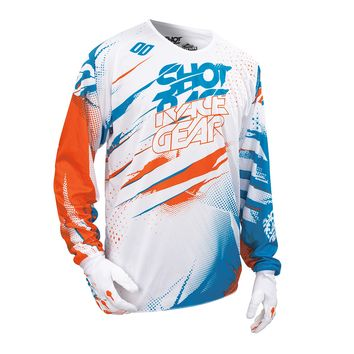 Maillot cross SHOT 2016 Devo Capture BLANC/ORANGE