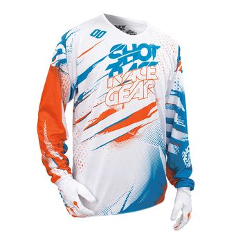 Maillot cross enfant SHOT 2016 Devo Capture BLANC/ORANGE