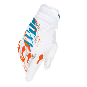 Gants cross enfant SHOT 2016 Devo Capture BLANC/ORANGE