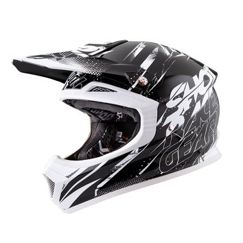 Casque Cross SHOT 2016 Furious CAPTURE NOIR/BLANC 62 - XL