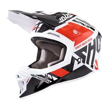 Casque Cross SHOT 2018 Striker Raceway Rouge 62 - XL