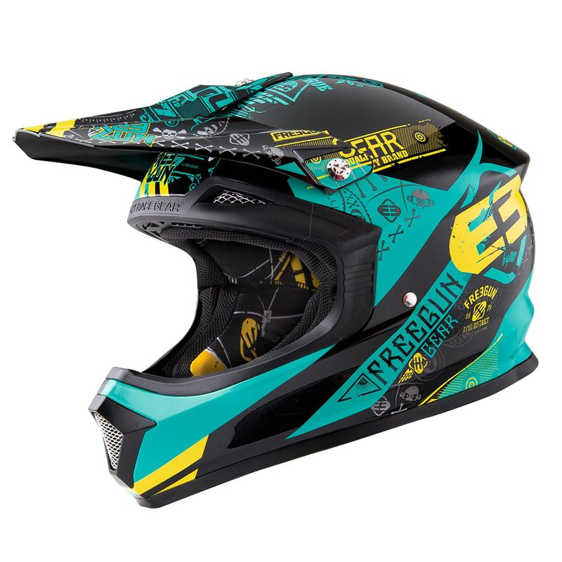 casque cross freegun by shot 2016 xp 4 bandana mint lime 3as racing. Black Bedroom Furniture Sets. Home Design Ideas