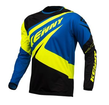 Maillot Kenny 2017 TRIAL UP BLEU/JAUNE FLUO S