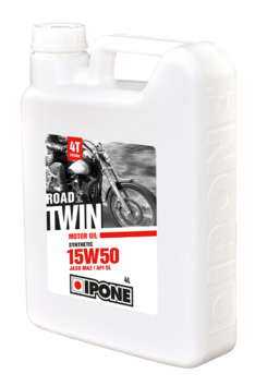 Huile moteur IPONE 15W50 Road Twin Synthesis 4 Litres