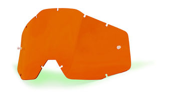 Ecran 100% Orange Anti-buée pour Masque cross Racecraft, Accuri, Strata