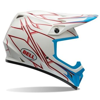 Casque cross BELL 2016 MX-9 Pinned Blanc