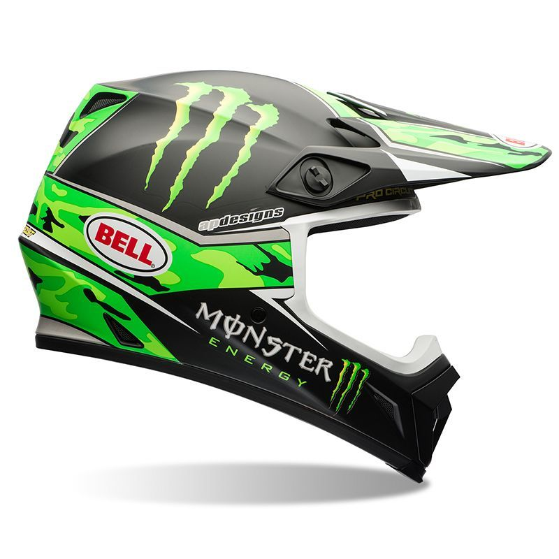 casque cross bell 2016 mx 9 r plica pro circuit monster 3as racing. Black Bedroom Furniture Sets. Home Design Ideas
