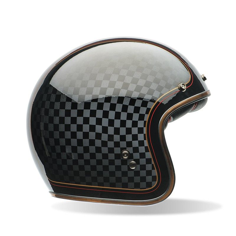 Casque Jet Bell Custom 500 Check It 3as Racing