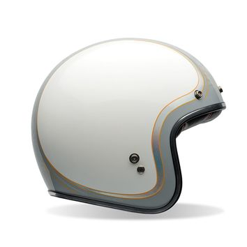 Casque BELL Custom 500 Headcase Cueball Blanc
