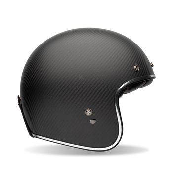 Casque Jet BELL Custom Carbon 500 Solid Noir