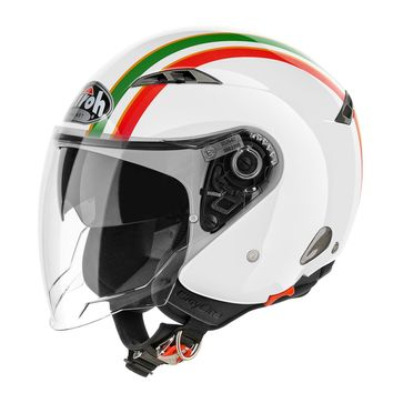 Casque Jet AIROH 2016 City One Style Or Brillant