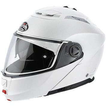 casque modulable route airoh phantom s color blanc brillant 3as racing. Black Bedroom Furniture Sets. Home Design Ideas