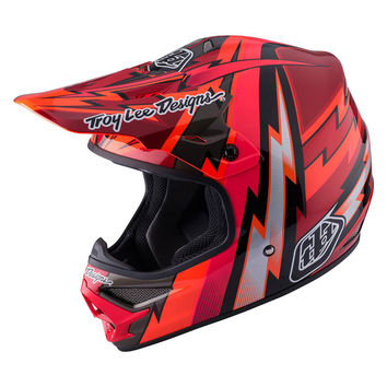 Casque cross Troy Lee Designs 2017 Air Beams Rouge