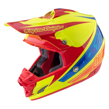 Casque cross Troy Lee Designs 2017 SE3 Corse 2 Jaune