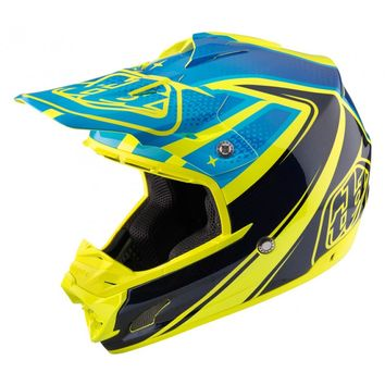Casque cross Troy Lee Designs 2017 SE3 Neptune Jaune