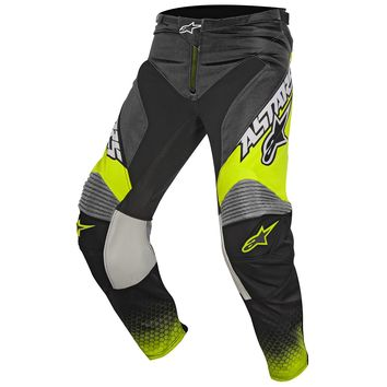 Pantalon Cross Alpinestars 2017 Racer Supermatic Anthracite Jaune Fluo