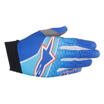 Gants Cross Alpinestars 2017 Aviator Bleu Cyan Rouge