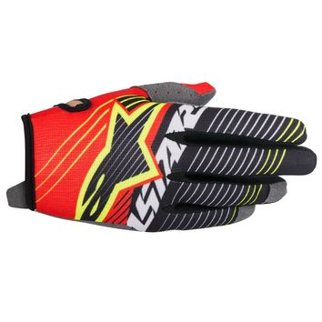 Gants Cross Alpinestars 2017 Radar Tracker Rouge Blanc Noir