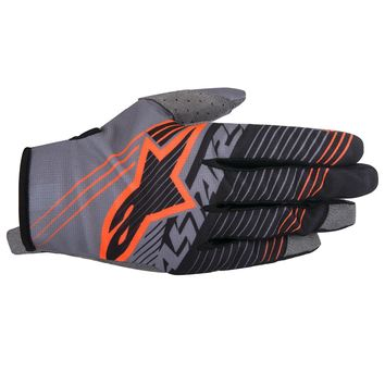 Gants Cross Alpinestars 2017 Radar Tracker Gris Noir Orange Fluo