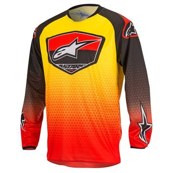Tenue Cross 2017 ALPINESTARS Racer Supermatic - Rouge Noir Jaune