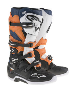 Bottes Alpinestars TECH 7 - Noir Orange Blanc