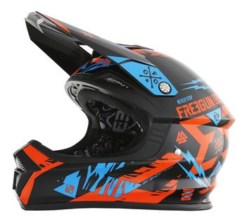 Casque cross Freegun 2017 XP-4 Trooper Neon Orange/Cyan