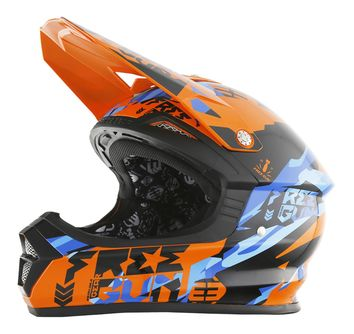 Casque cross Freegun 2017 XP-4 Honor Orange/Bleu
