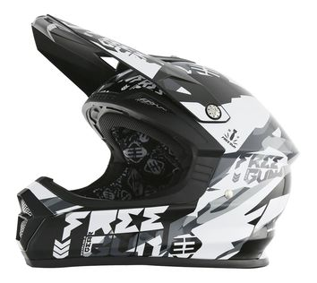 Casque cross Freegun 2017 XP-4 Honor Noir/Blanc