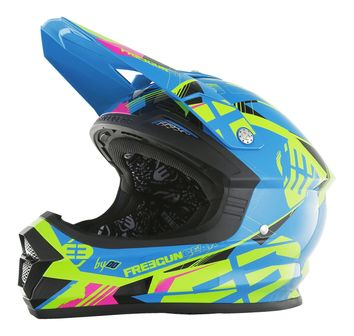 Casque cross Freegun 2017 XP-4 Link Bleu/Lime