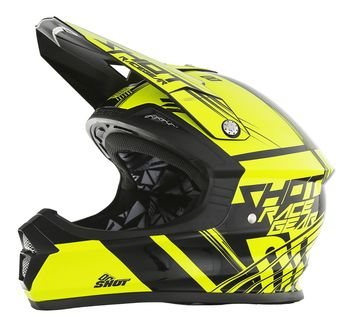 Casque Cross Shot 2017 Furious Claw Neon Jaune