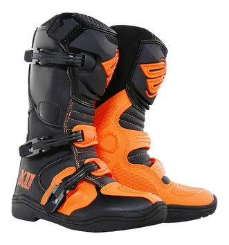 Bottes Cross Enfant Shot 2018 K11 Orange Fluo