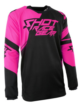 Maillot Cross Shot 2017 Contact Claw Neon Rose