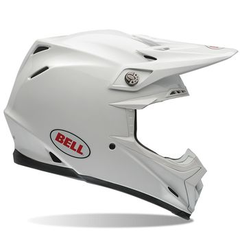 Casque cross Bell Moto-9 Carbone Flex Solid - Blanc