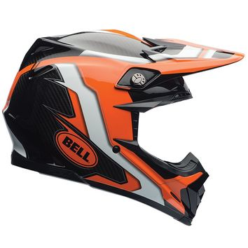 Casque cross BELL 2016 MOTO 9 Carbon Flex Factory - Orange Noir