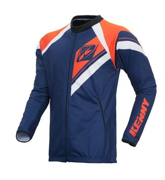 Casaque Zippée Enduro Kenny - Bleu Navy Orange Fluo