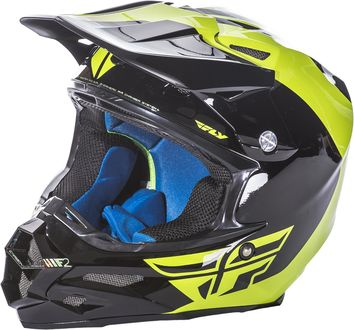 Casque cross Fly 2017 F2 Carbon Pure Jaune Fluo/Noir