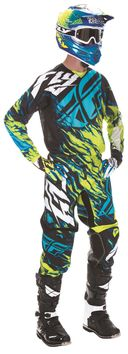 Tenue Cross 2017 Fly Racing Kinetic Relapse Lime/Bleu