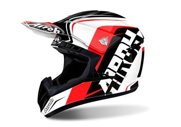Casque cross AIROH 2017 Switch Sign - Rouge Brillant