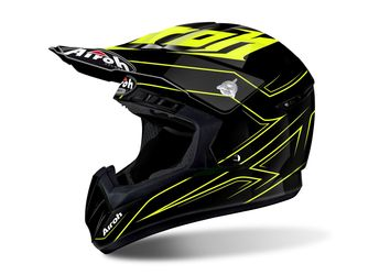 Casque cross AIROH 2017 Switch Spacer - Jaune Brillant