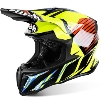 Casque Cross AIROH 2016 Twist Strange Bleu Brillant